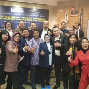 Ketua, Sekretaris & Anggota Peradi Kab. Bogor menghadiri Pelantikan Pengurus DPC PERADI Kota Bogor