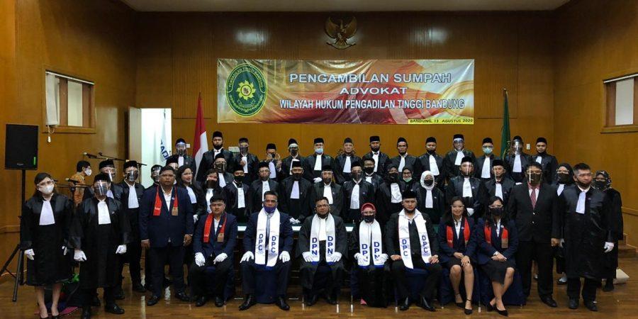 Pelantikan, Pengangkatan & Pengambilan Sumpah Advokat baru Tahun 2020 di Wilayah Hukum Pengadilan Tinggi Jawa Barat